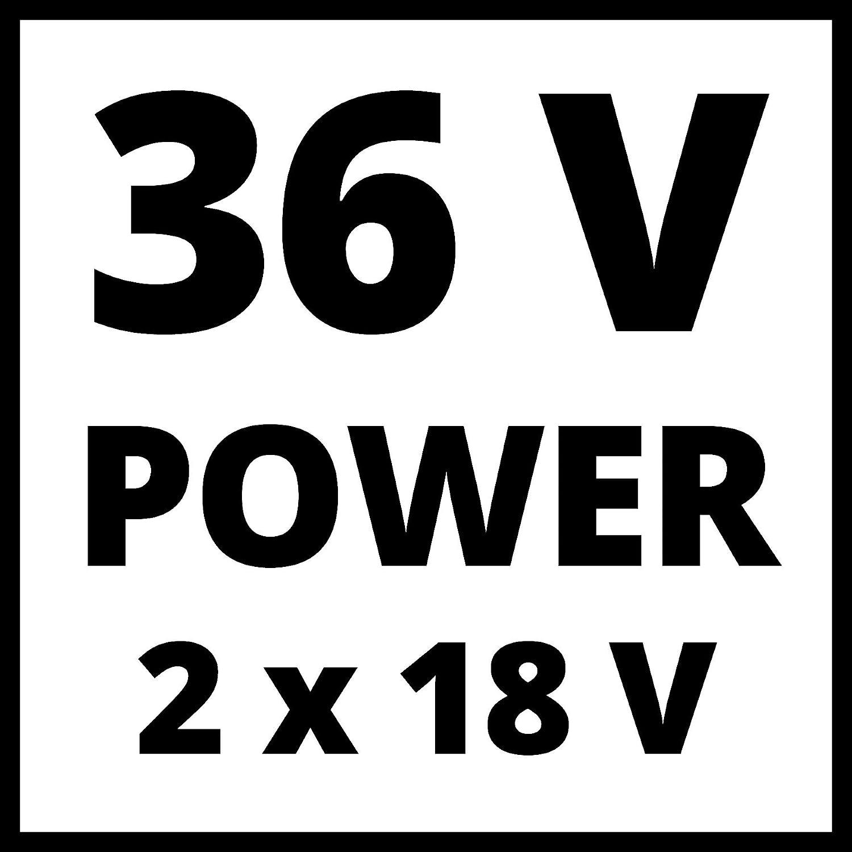 Einhell Akku-Laubbl/äser GE-LB 36//210 Li E Power X-Change Li-Ion, 36 V, 816m/³//h Blasleistung, Turboschalter, 3-stufiges + abnehmbares Rohr, inkl. 2x3 Ah Akku und Twincharger