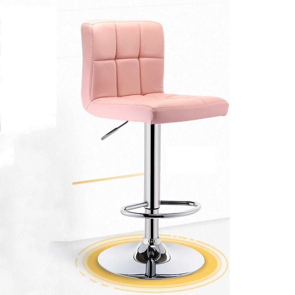 バースツール朝食スイベルスツールキッチンスツール調節可能な椅子、背もたれとアーム付きバーキッチンホーム ( 色 : Pink B ) B07BRFYR4C Pink B Pink B