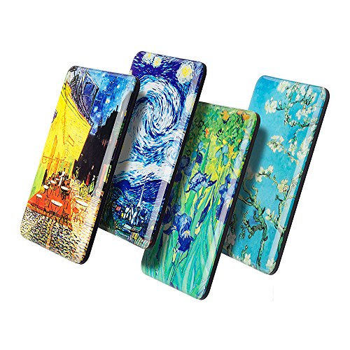 Morcart Van Gogh Refrigerator Magnets (4pcs) The Starry Night And Cafe Terrace At Night Magnets 3D Pattern Funny Office Baby Classroom Holiday Gifts Whiteboards Succulent Magnets In Your Kitchen -
