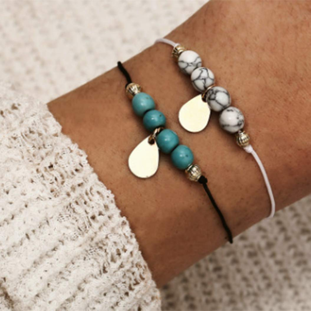 Initial Expandable Bangle Bracelet,Ladies Gift Idea Jewelry Multi Strand Freindship Bangle Bracelet For Women