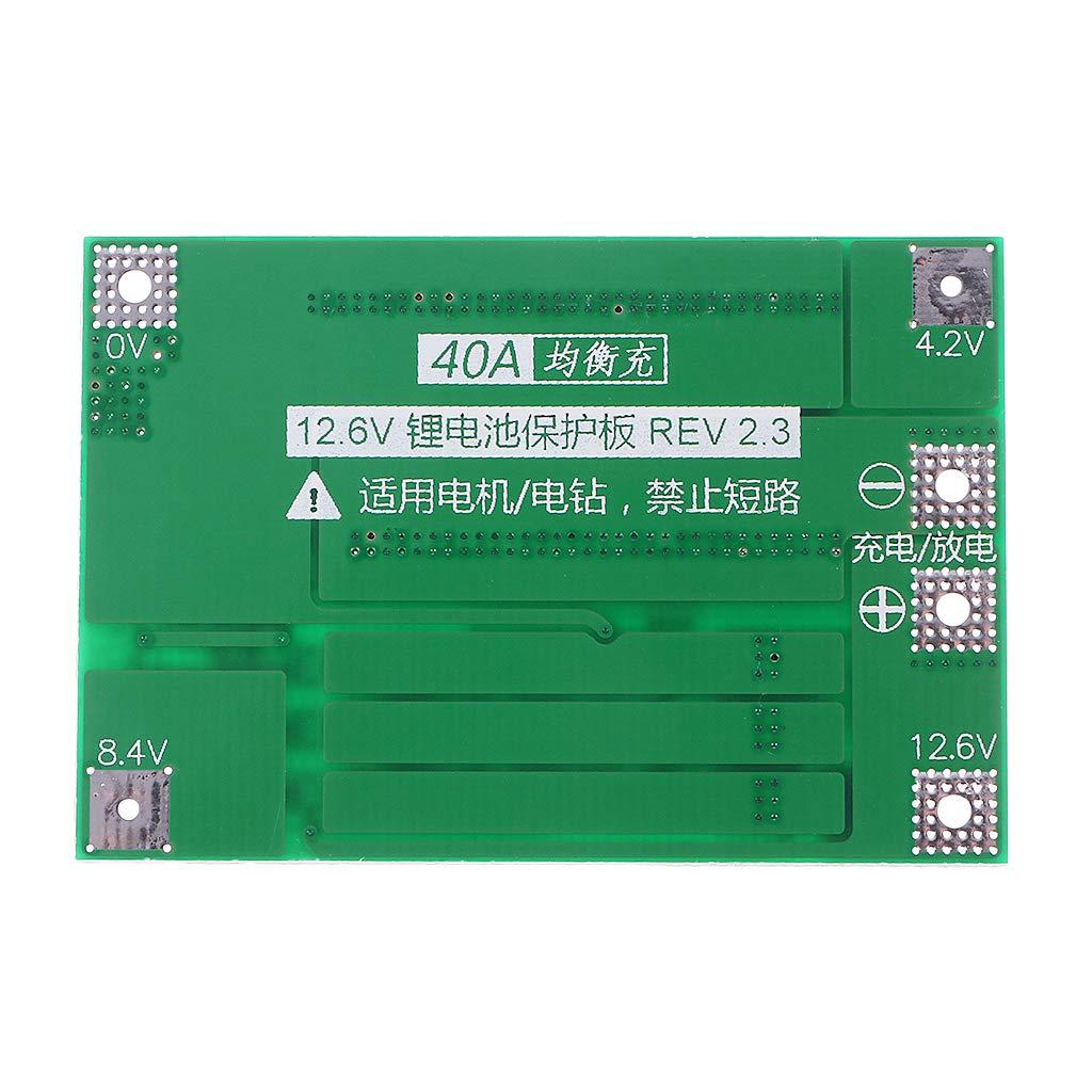 JENOR 3S Batterie Lithium-ION 18650 avec Platine de Protection BMS 11,1 V 12 V 40 A 1