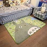 Ikeelife Cartoon TOTORO Skid-proof Washable Big Carpet Kids Nursery Entertainment Floor Area Rugs Baby Crawling Mat For Living Room/Bed Room Green,50x120cm/19.7 x47.28