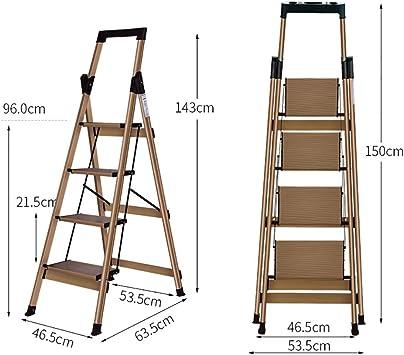 Escaleras Escalera de 4 peldaños, Escalera portátil de aleación de aluminio, Escalera plegable, Escalera de mano tipo loft de jardín, Oficina de usos múltiples, Taburete, Escalera de extensión, Escale: Amazon.es: Bricolaje y