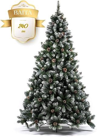 Albero Di Natale Amazon.Albero Di Natale Innevato Effetto Naturale Baita Super Folto E Decorato Con Pigne Perfetto Per Rendere Magico Il Tuo Natale Amazon It Casa E Cucina