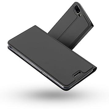 Radoo Funda OnePlus 5, Slim Case de Estilo Billetera Carcasa Libro de Cuero,PU Leather con TPU Silicona Case Interna Suave [Función Soporte][Cierre ...