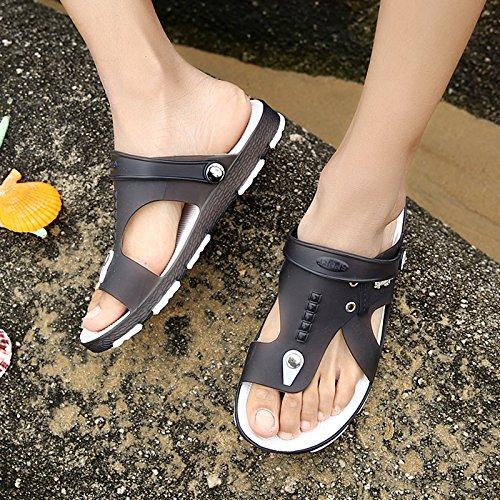Xing Lin Flip Flop De La Playa Tendencia De Verano Zapatos De Hombre Calzado De Playa El Agujero Zapatillas Para Hombres Flip-Flops Sandalias De Hombres Marea Antideslizante black