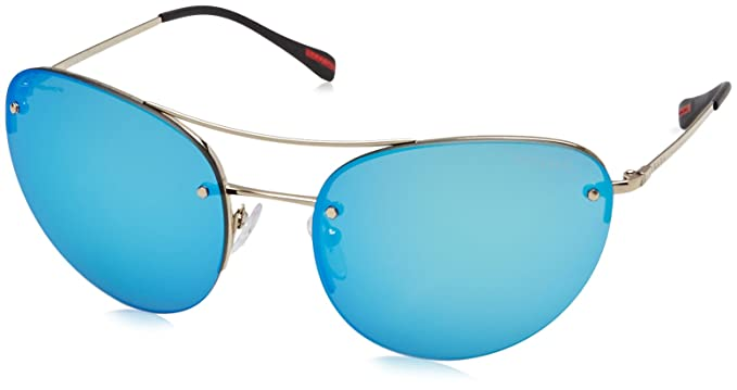 79c00b8a04 Image Unavailable. Image not available for. Color  Prada Sport 51RS ZVN5M2  Pale Gold 51RS Sunglasses ...