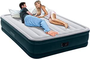 Intex Dura-Beam Series Elevated Comfort - Cama hinchable con bomba eléctrica incorporada, Altura 40,6  cm, Reina - Amazon Exclusivo