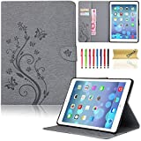 iPad Mini 4 Case, Dteck(TM) Slim Fit Flip PU Leather Cover Magnetic Closure Wallet Stand Cover with Card/Money Slots Protective Skin Tablet Cases for Apple iPad Mini 4 7.9 inch iOS Tablet (03 Gray)