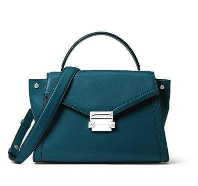 bee770c60c5b MICHAEL Michael Kors Whitney Medium Leather Satchel in Luxe Teal   Amazon.co.uk  Shoes   Bags