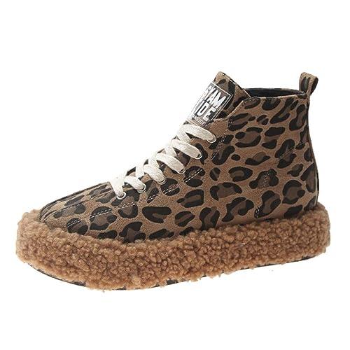 Zapatos Planos Mujer, LANSKIRT Mujeres Leopardo Zapatos ...