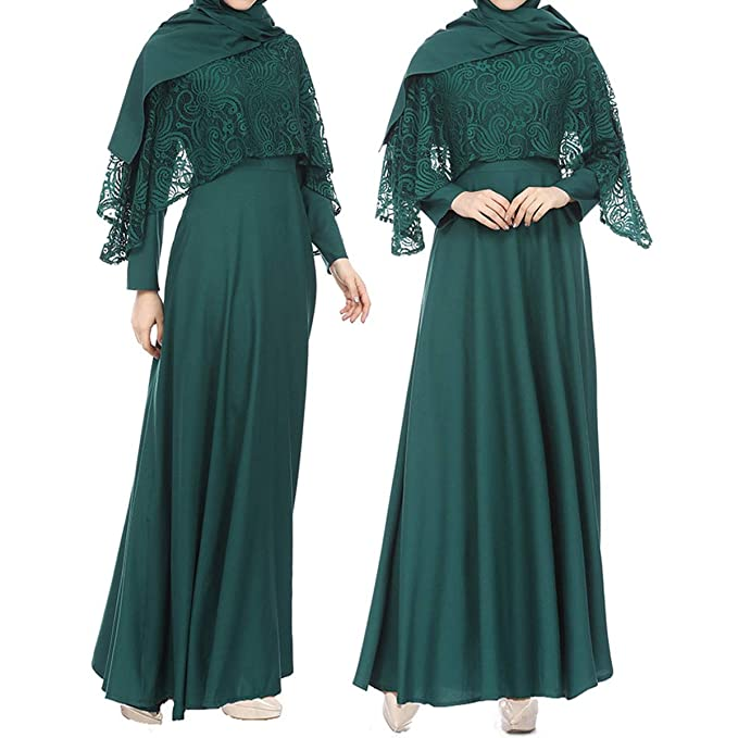 f31c3bf94bbcf Amazon.com: 2019 New! Muslim Chiffon Dress,Women Kaftan Jilbab Abaya ...