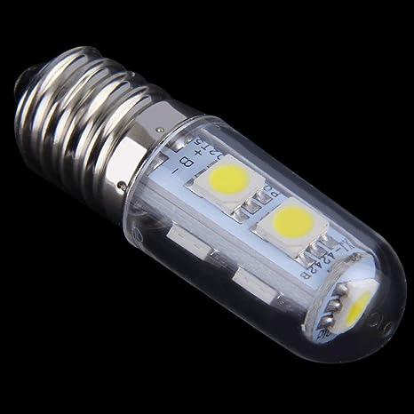 Funnyrunstore 1x Mini E14 1W 7 LED 5050 SMD Nature/Warm White Lámpara de la