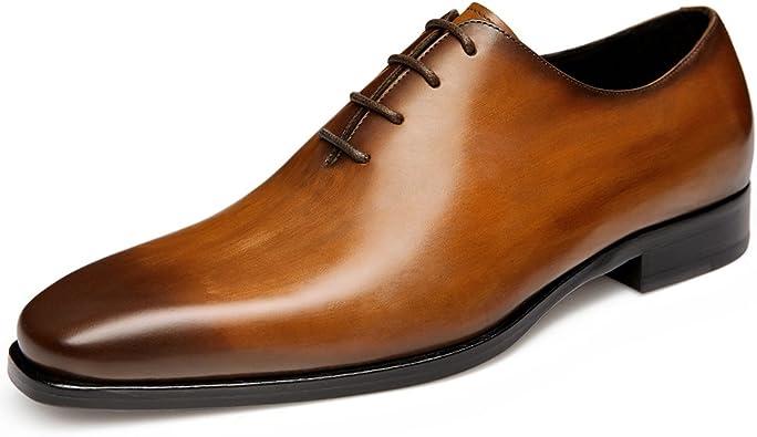Amazon.com | GIFENNSE Mens Leather Oxford Dress Shoes Black Formal Shoes  Brown Dress Shoes Men | Oxfords