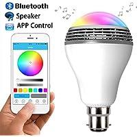 B22 LED Speaker Bulb with Bluetooth Play Music from Phone Smart Lighting Light Bulb (B22 Bayonet Base)