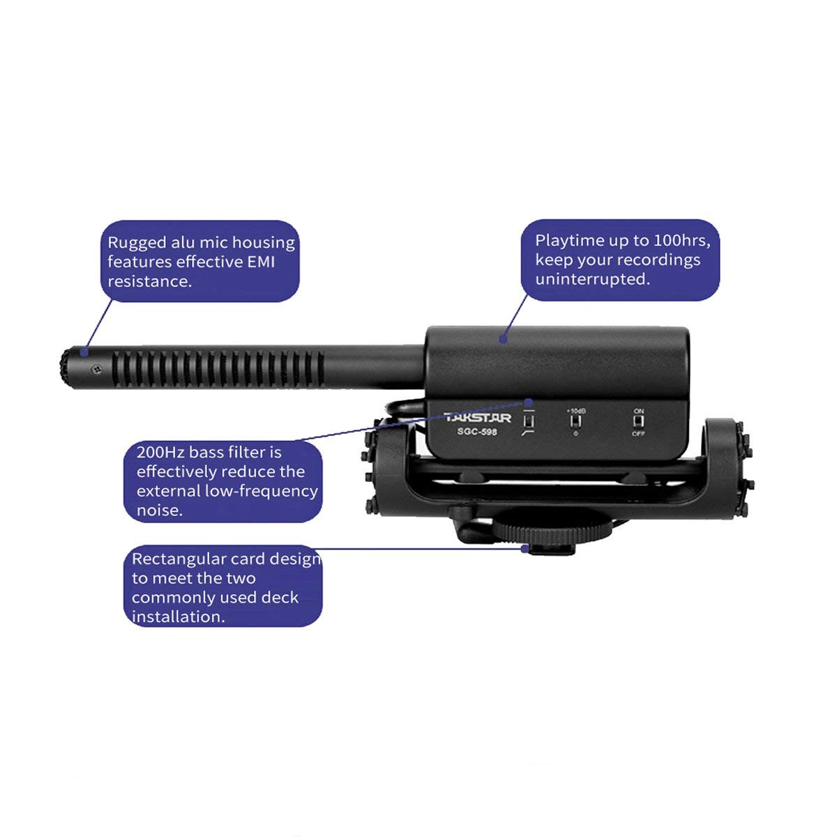 Pixel MC-50 High Definition Voice Camera Microphone Camcorder Interview Microphone Low-Noise Circuit Design Shotgun Mic for dslr Canon Nikon Panasonic Camcorder Need 3.5mm Interface