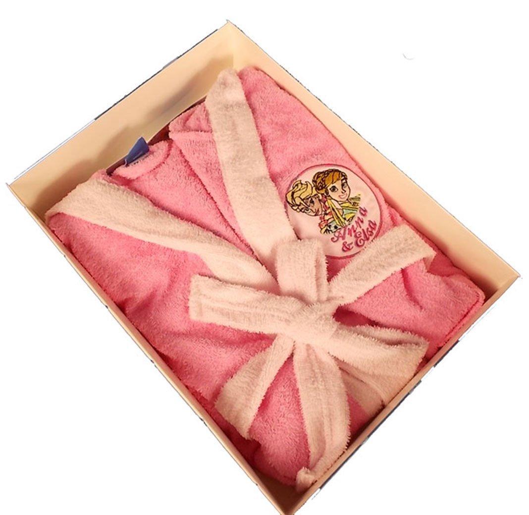 Accappatoio Bambina Frozen Disney-Rosa-3 A