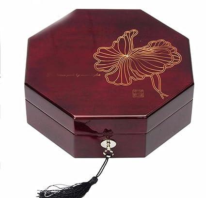 lzzfw Caja de regalo de Navidad Caja de regalo de madera Piano de madera Pintura de
