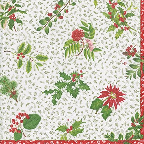 Paper Napkins Winter Wedding Country Christmas Decorations Ivy Garden Dessert Napkins Pk 40