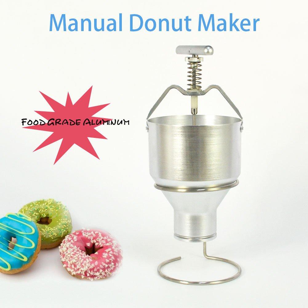 35mm With 6 Adjustment Manual Donut Depositor Dropper Plunger Dough Batter Dispenser Hopper Taishi
