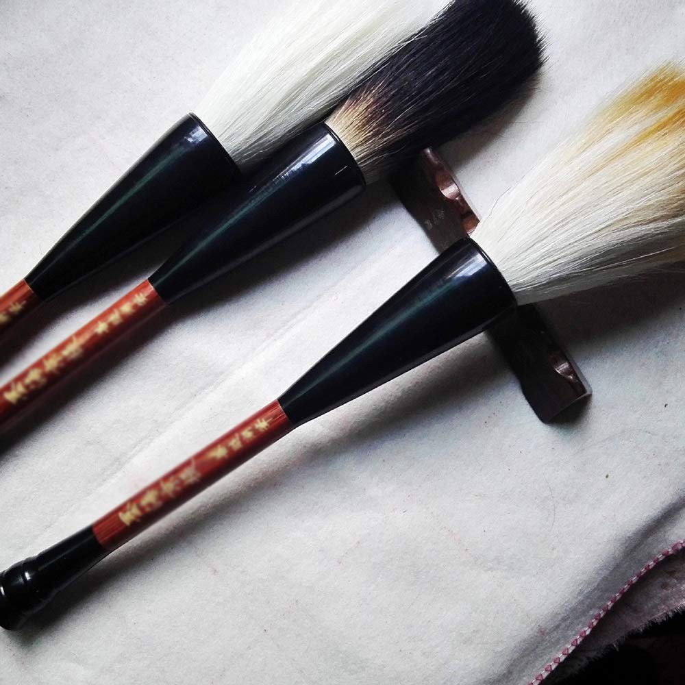 QTT Writing Brush, Calligraphy Supplies, Solid Wood Pens, Couplet Pens (3 Pcs) by QTT (Image #3)