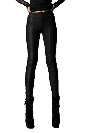 33108be69d Punk Rave Stretchy Rock Pants for Women Mid Elastic Waist Full Length Butt  Lift Leggings Biker Chic Outfits: Amazon.co.uk: Clothing