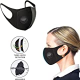 YOMYM Pollution Mask for Adult and Kids[Pack of 5], Reusable Dust Mask with Built-in Filters, Polyurethane Foam Anti Dust Mask
