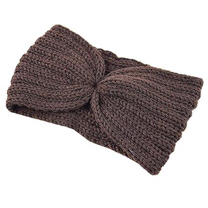Boomly Autunnali e Invernali Moda Caldo Elastico Fascia per capelli di Lana  Lavorata a maglia Crochet fcd6ea6f5405