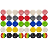 40 Pcs Colorful Silicone Accessories Parts Thumb Grip Cap Cover, Analog Controller Thumb Stick Grips Cap Cover For PS2…