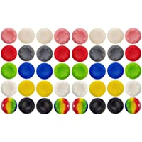 40 Pcs Colorful Silicone Accessories Replacement Part Thumb Grip Cap Cover, Analog Controller Thumb Stick Grips Cap…