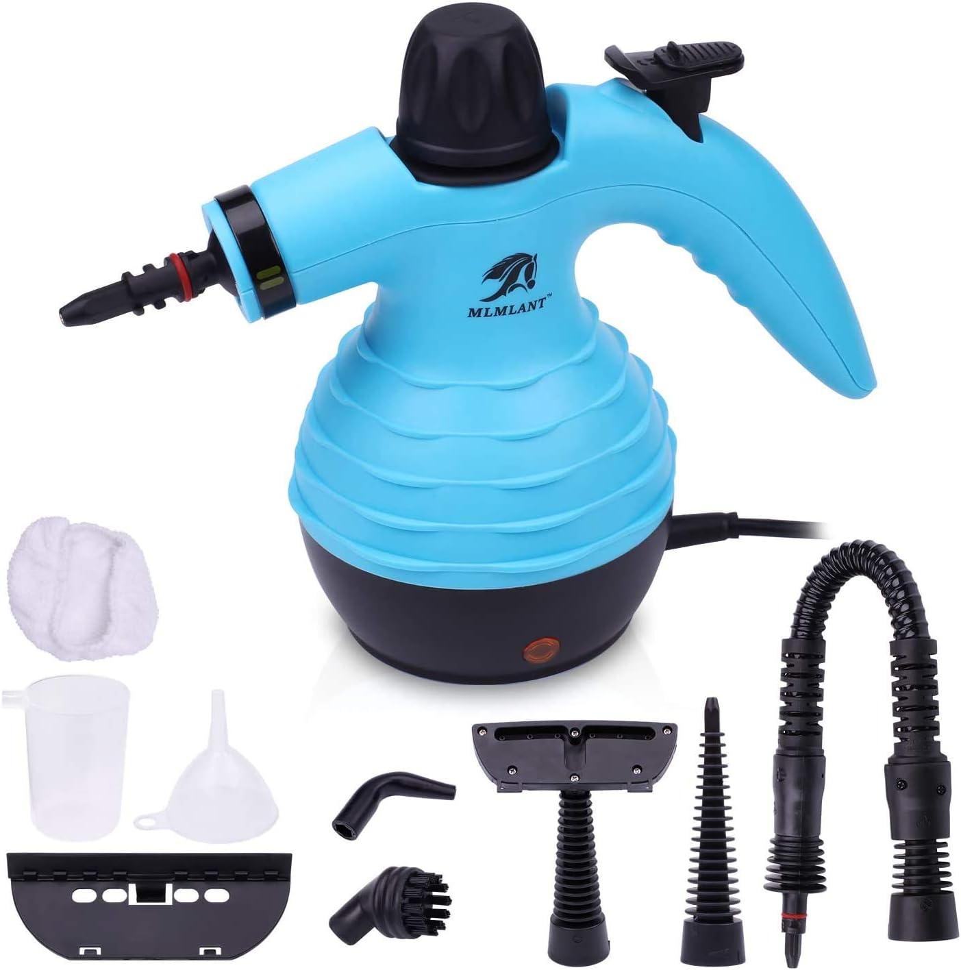 MLMLANT Multiuso Purificador Limpiador de vapor para la eliminación de manchas, alfombras, cortinas, control de errores de cama, asientos de coche (Multicolor)
