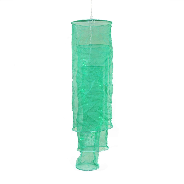 amazoncom gki bethlehem lighting pre lit sheer green fabric column lantern party light 34 home kitchen amazoncom gki bethlehem lighting pre lit