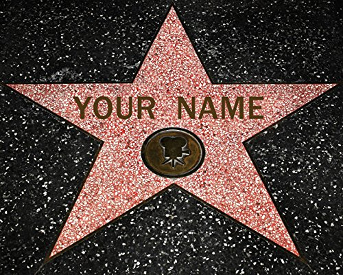 Hollywood Walk of Fame Star - Fine Art Print Personalized with Your Name