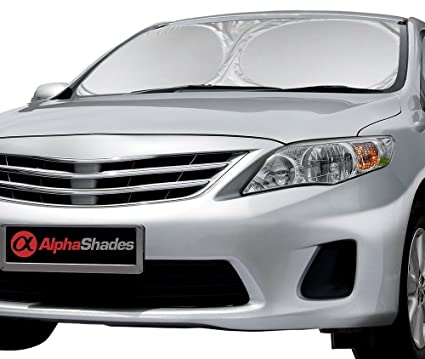 AlphaShades Car Windshield Sun Shade - Made of High Quality Nylon Polyester