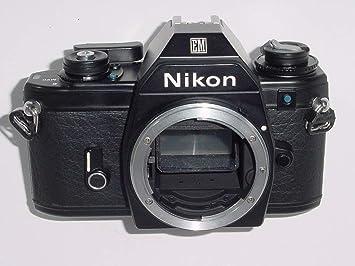 Nikon Em Black Body Slr Film Camera 35mm Serviced Amazoncouk