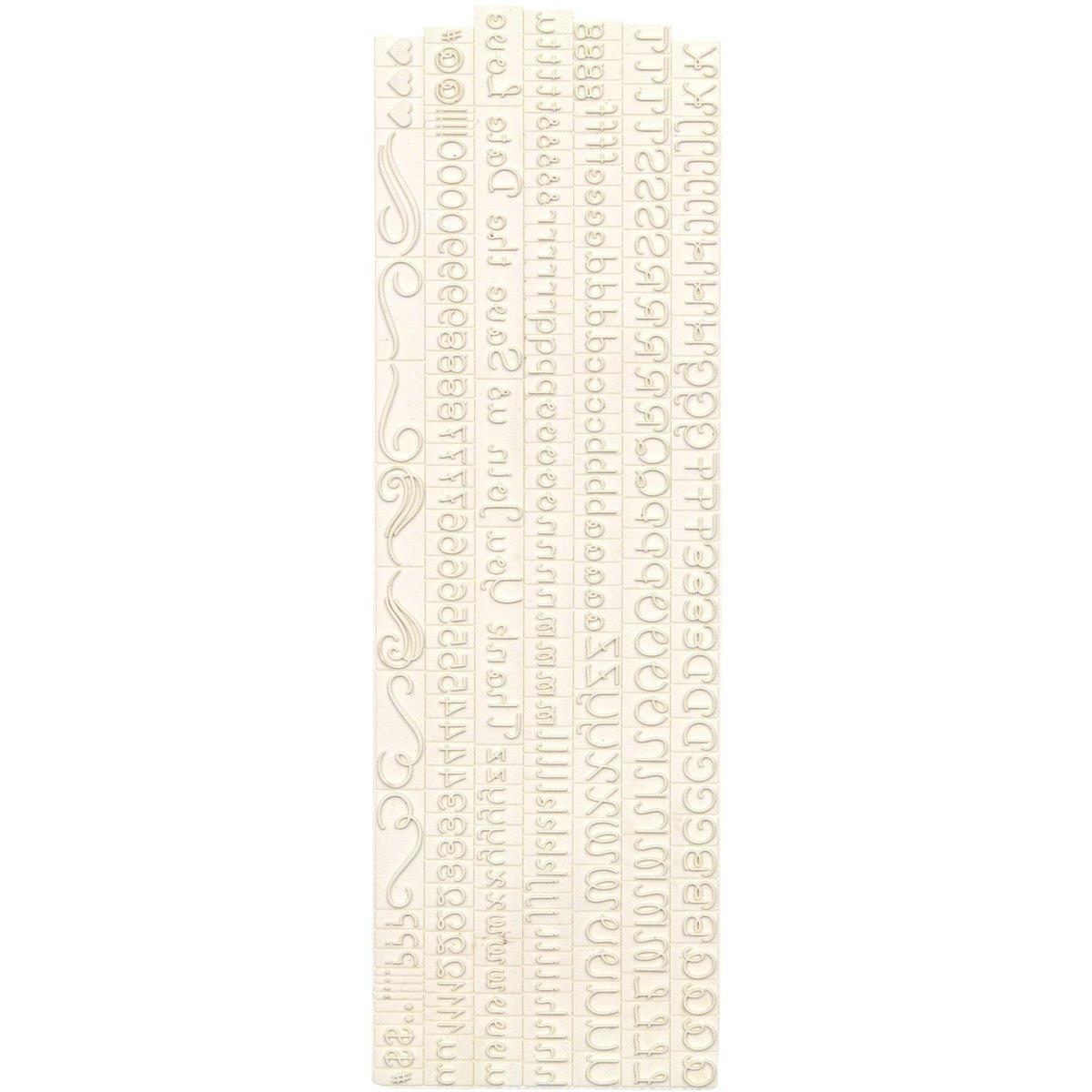 Loop Script Alphabet EKS 40-22007 Martha Stewart Crafts Rubber Stamp