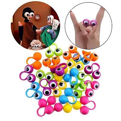 Acc 10 Piezas Dedo Spies Ojos Oobi Dedo Marionetas Anillo, para niños, tamaño pequeño: Informática