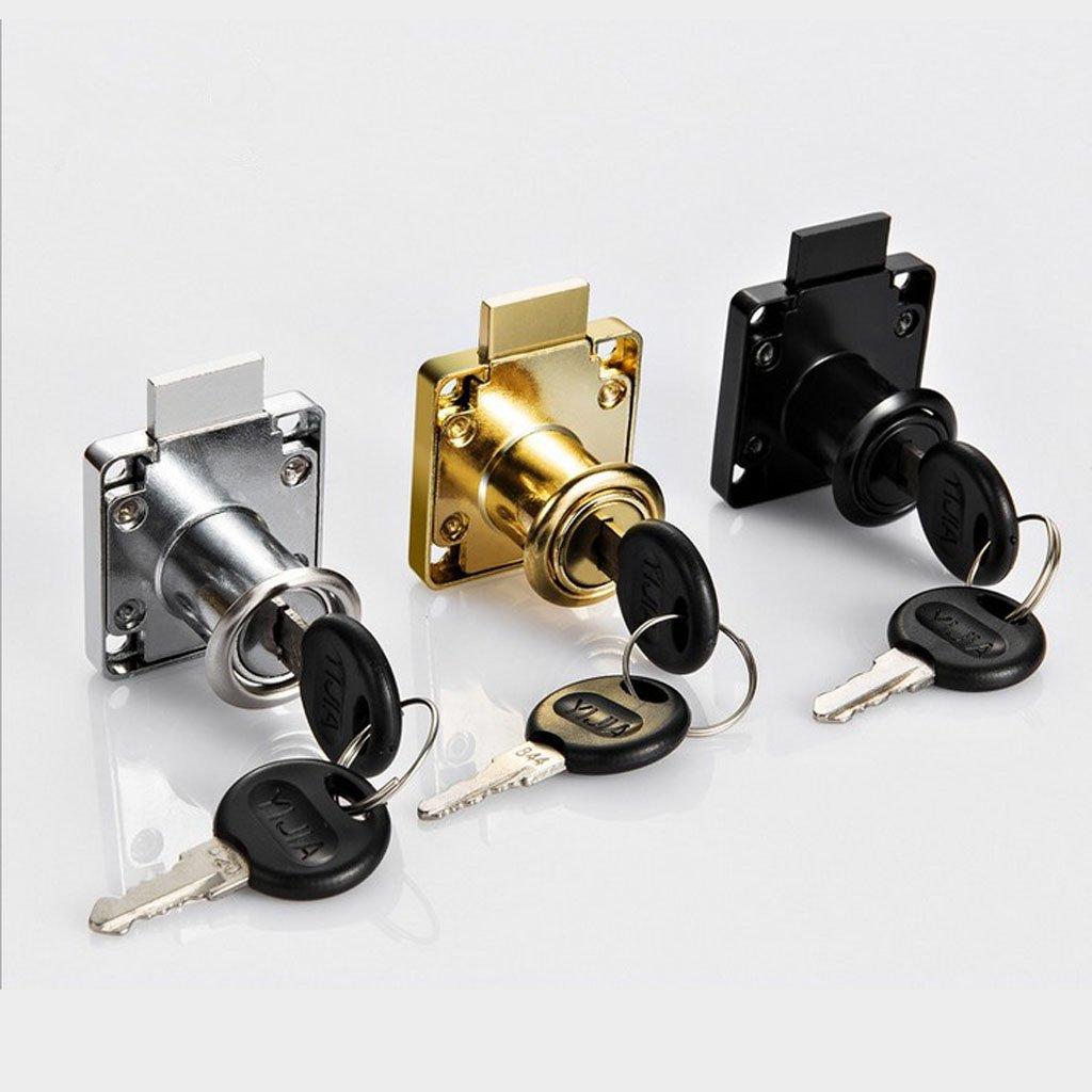 Locks Adatto a Cassetto Armadio Argento 32mm Homyl Serratura a Cilindro