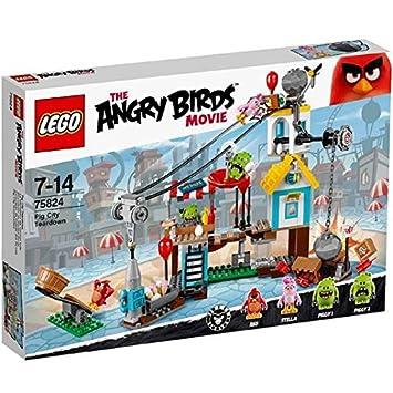LEGO Angry Birds Pig City desmontaje 75824 7+