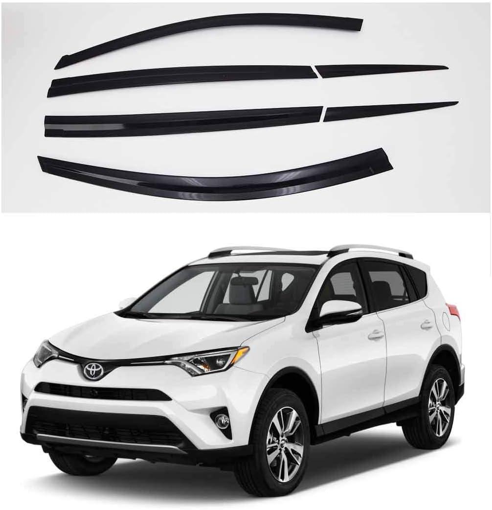 Smoked Window Door Visor For 2013-2017 Toyota RAV4