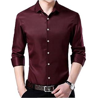 Nanquan Men Casual Long Sleeve Plaid Button Down Shirt Denim Jean Shirt