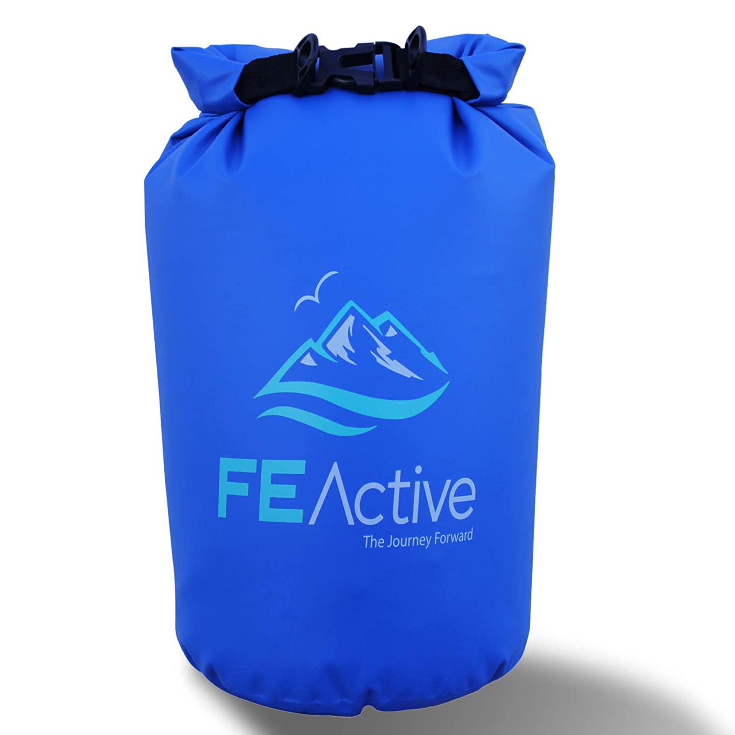 FE Active - 15L Eco Friendly Waterproof Dry Bag Sack Great for all Outdoor and Water related activities. Lined rim at the opening for maximum insulation when compressing Carrying strap included Black FE-090411