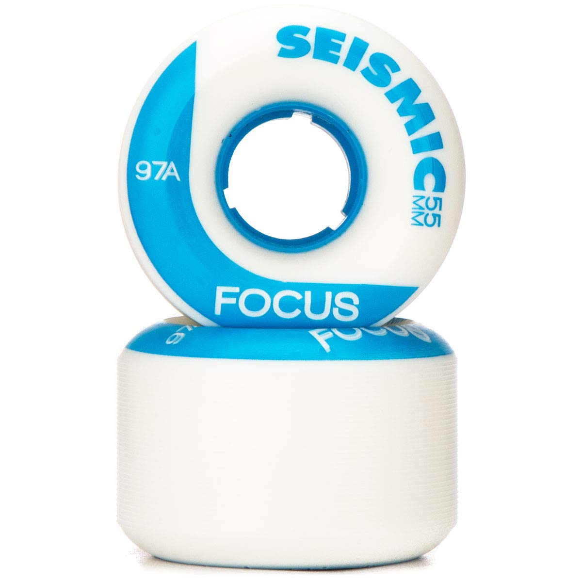 Seismic Focus Longboard Wheels 55mm 97a White
