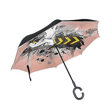 f5e1bc0c638c Amazon.com : Jojogood Urban Poster Inverted Umbrella Reverse Auto ...