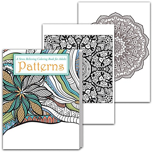 Stress Relieving Adult Coloring Book with Patterns & Mandalas for Relaxation - Anti Stress Adult Coloring Books Best Sellers Series, Paperback