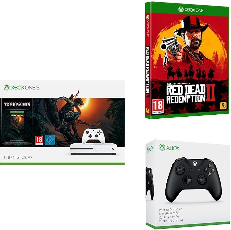 Microsoft Xbox One X-Consola 1 TB+Shadow Of The Tomb Raider + Red ...
