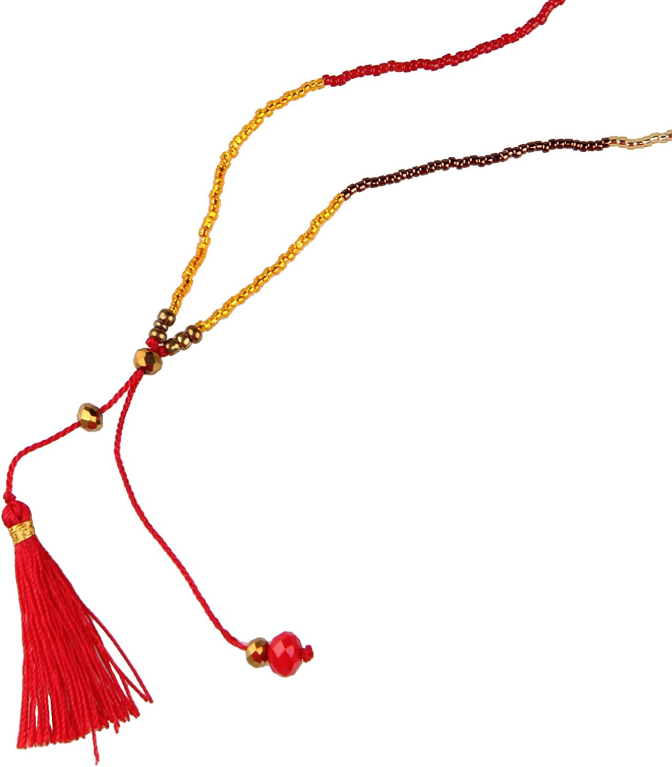 QQ/&U Layered Necklace with Tassel Pendant for Women