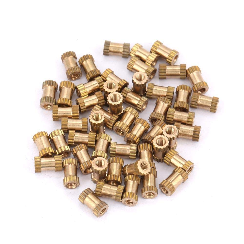 Brass Threaded Insert Nuts, M2*3.5 Cylinder Knurled Round Molded-in Insert Embedded Nuts 1set (M2*5 * 3.5(100pcs)) M2*3.5 Cylinder Knurled Round Molded-in Insert Embedded Nuts 1set (M2*5 * 3.5(100pcs)) ZJchao