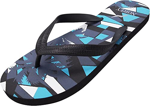 903e05abc NORTY - Men s Palm Tree Graphic Flip Flop Thong Sandal