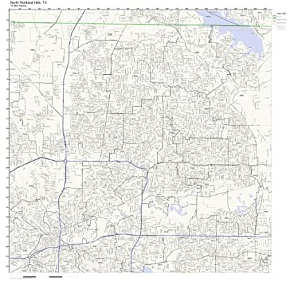 Amazon Com North Richland Hills Tx Zip Code Map Not Laminated